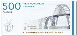 Puente de la reina Alejandrina en las 500 coronas danesas