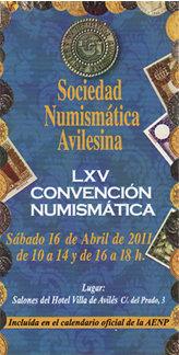 LXV Convención Numismática en Avilés, 16 de abril