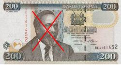 La nueva Constitución de Kenia prohíbe los rostros y nombres propios en los billetes