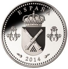 250 Aniversario del Real Colegio de Artillería en 10 euros plata