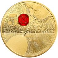 250 Años de la Societé Baccarat en 5.000 euros de oro de 1 kg.