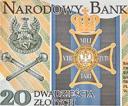 """20 Zloty para celebrar el Centenario de la """"Legión Polaca"""""""