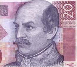 Billete de 20 kuna conmemorativo de Croacia