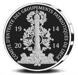 Lieja conmemora la I Guerra Mundial con medallas en oro y plata
