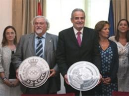 Presentación de la moneda del Campeonato del Mundo de Tiro