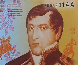 Nuevo billete patriótico de 10 pesos argentinos