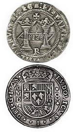 """Daniel Frank Sedwick subastará dos de las mejores monedas de plata de 8 Reales de la Ceca de México: Juana y Carlos, 1538, """"R"""", y Luis I, 1725, """"D"""""""