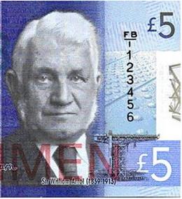 Escocia se adelanta a Inglaterra y emitirá polímeros de 5 libras en 2015
