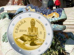 2 Euros para el Parque Güell en versión proof
