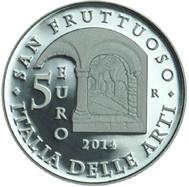 Abadía de San Fructuoso, Región de Liguria en 5 euros plata