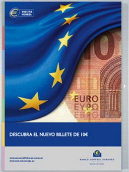 En marcha el plan de información sobre el nuevo billete de 10 euros