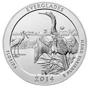 Quarter de plata para el Parque Nacional de Everglades, Florida