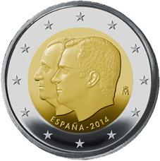 Los primeros 2 euros conmemorativos de FelipeVI