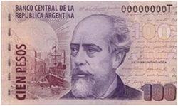 Comienzan a circular nuevos billetes de cien pesos en Argentina