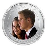 Canadá acuña monedas por la boda del Príncipe Guillermo y Kate Middleton