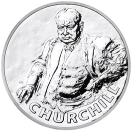 20 Libras de plata para Wiston Churchill