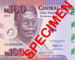 Presentrado el billete nigeriano de 100 naira