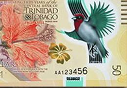 50 Dólares conmemorativos en polímero para Trinidad y Tobago