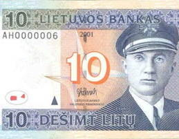 El Banco de España cambia billetes y monedas de lituania por euros