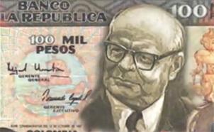 Habrá billete de Cien Mil pesos colombianos para Carlos Lleras Restrepo