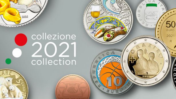 Así serán las monedas de Italia para este 2021