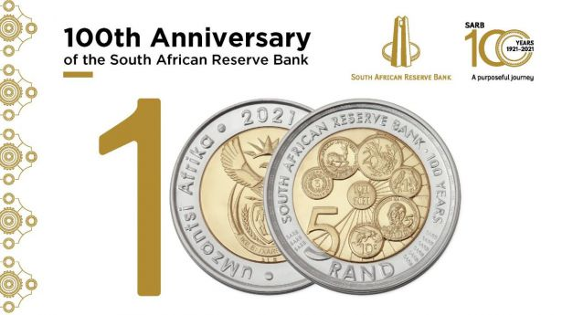 Nueva moneda para conmemorar el Centenario del Banco de la Reserva de Sudáfrica