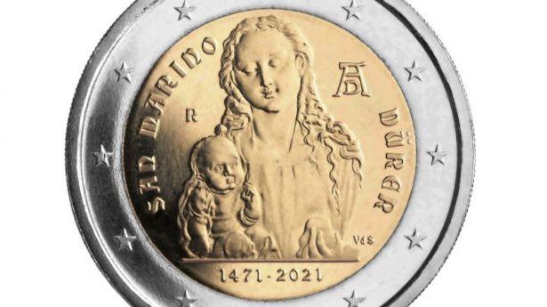 Alberto Durero, motivo de la moneda de 2 euros conmemorativa de San Marino