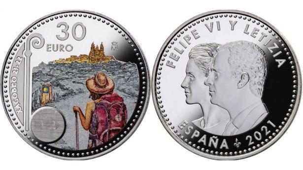 España: Moneda de 30 euros del Año Xacobeo