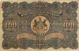 Alemania 100 Marcos 1907 Badische Bank vs. 100 Marcos 1911 Wurttemberg Bank