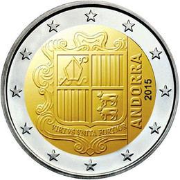 El euro: 2€ (Andorra)
