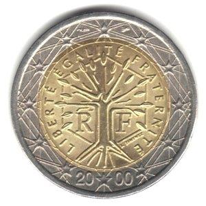 El euro: 2€ (Francia)