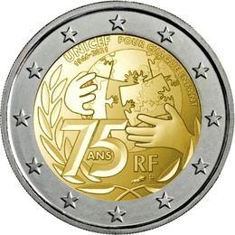 Ya a la venta la moneda de 2 euros conmemorativa de Unicef