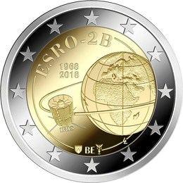 Primera moneda de 2 euros con temática espacial