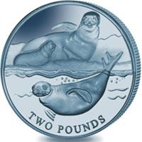 Moneda de 2£ de titanio