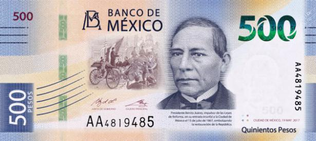 La familia de billetes mexicanos aumenta