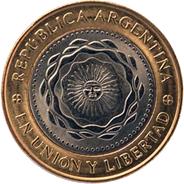 Nueva moneda de 2 pesos en Argentina