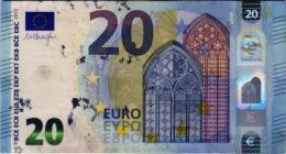 El euro: Billetes manchados de tinta