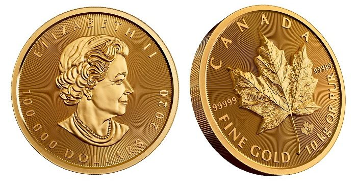Royal Canadian Mint lanza su mayor moneda de hoja de arce de oro