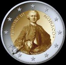 Así es la moneda conmemorativa de dos euros de Mónaco 2020