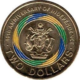 Una moneda para celebrar el 40º aniversario de independencia de las Islas Salomón