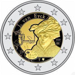 Segunda moneda conmemorativa de 2020 para Bélgica: Van Eyck