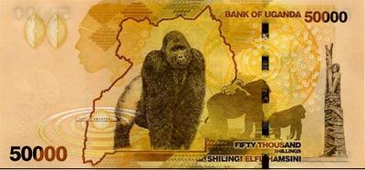 """50.000 chelines de Uganda, elegido """"Billete del Año"""""""