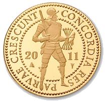 17.10.2011. Doble ducado de oro holandés 2011