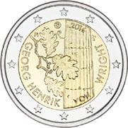 Finlandia y el filósofo Georg Henrik von Wright en 2 euros