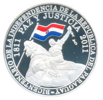 """No se venden las conmemorativas del """"Bicentenario de Paraguay"""