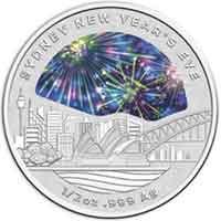 Una moneda da la bienvenida al año nuevo en Australia