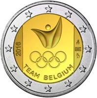 Equipo de Bélgica en 2 euros para los JJ.OO. 2016