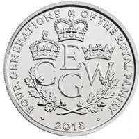 Nueva moneda inglesa con las cuatro generaciones reales