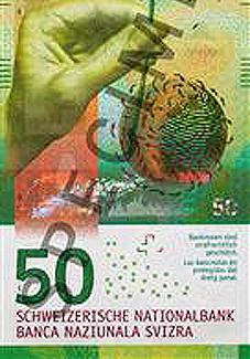 El Banco Nacional de Suiza presenta su nuevo billete de 50 francos