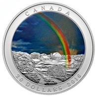 Arco Iris canadiense en plata y color